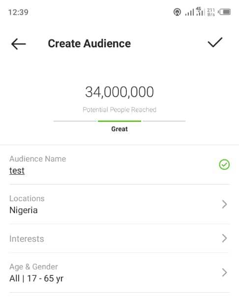 Number of active users on Instagram in Nigeria