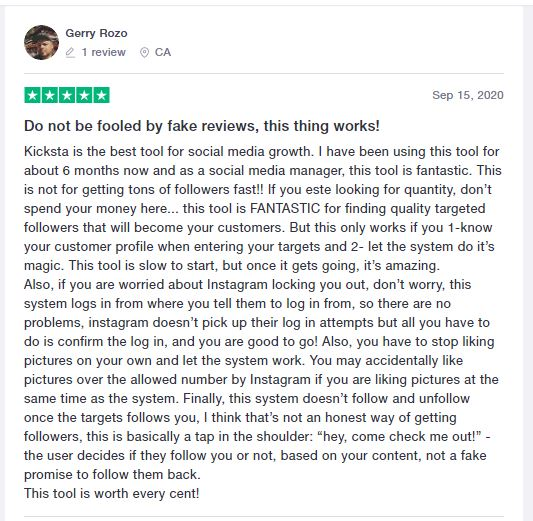 Kicksta review by Gerry Rozo