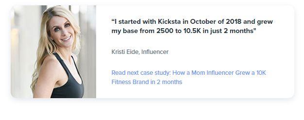 Kicksta review by Kristi Eide